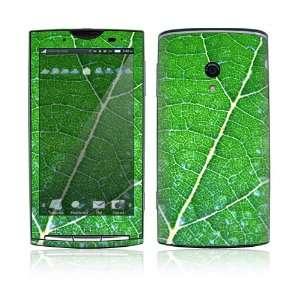 Xperia X10 Skin Decal Sticker   Green Leaf Texture