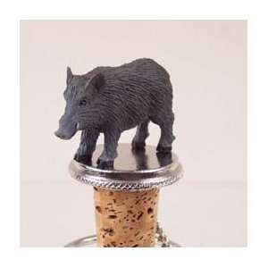 Hog Razorback Tiny One Bottle Stopper:  Kitchen & Dining