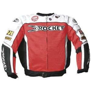 Joe Rocket UFO Mens Textile Mesh Motorcycle Jacket Red/White/Black