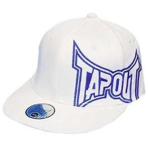 MMA UFC TAPOUT WHITE FLAT BILL LG XL FLEX FIT HAT CAP