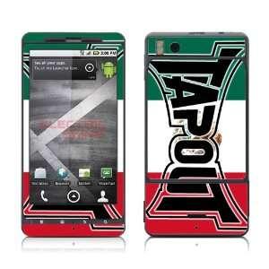 Motorola Droid X Tapout MMA UFC Logo Mexico Flag skins skin kit vinyl