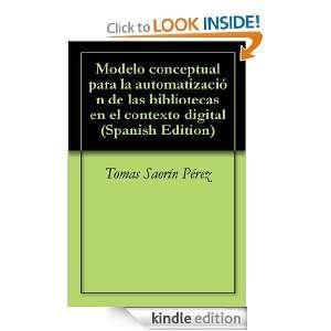 Modelo conceptual para la automatización de las bibliotecas en el