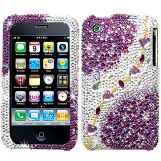 DIAMOND BLING CRYSTAL FACEPLATE CASE COVER APPLE IPHONE 2 3G 3GS