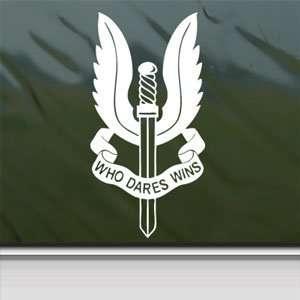 SAS Special Air Service SASR NZ UK White Sticker Laptop