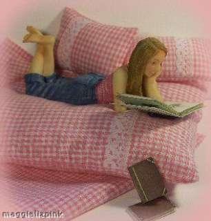 DOLLS HOUSE Resin figure   teenage girl ~ lying  modern
