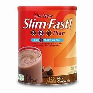 Slim Fast 3 2 1 Powder, Milk Chocolate, 12.83 oz: Health
