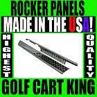 NEW EZGO TXT Golf Cart Diamond Plate Full Rocker Panels