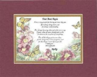 Personalized Touching and Heartfelt Poem for Aunts   Dear Aunt