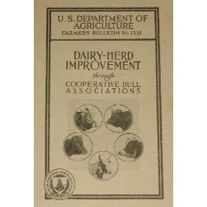 Dairy herd improvement through cooperative bull associations (Farmers