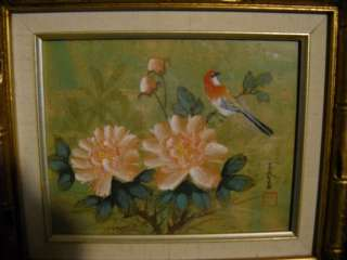 Signed Oriental Chinese Japanese Asian Rice Paper? Painting Bird