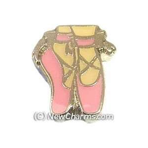 Ballet Dance Shoes Floating Locket Charm