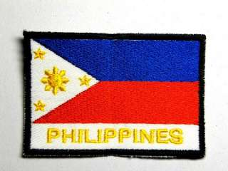 PHILIPPINES EMBLEM FLAG IRON ON PATCH EMBROIDERED I031