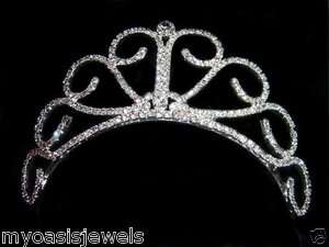 Bridal Austrian Crystal Rhinestone Tiara Crown Wedding Pageant Jewelry