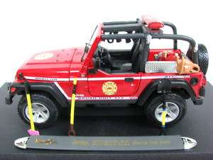 Maisto Jeep Wrangler Fire Truck 1/18 Diecast cars