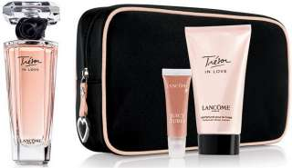 LANCOME TRESOR IN LOVE GIFT SET~ 1.7 oz EDP, BODY LOTION & JUICY TUBES