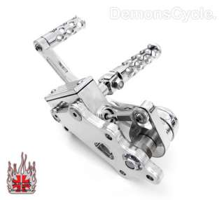 CHROME BILLET FORWARD CONTROLS FOR HARLEY BIG TWIN 00Up