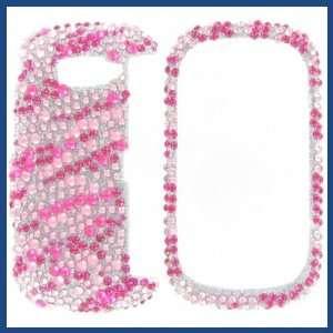 LG VN530 Octane Full Diamond Hot Pink Zebra Protective