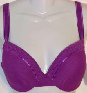 ONE BRA 8336(1) purple LACE TRIMED UNDERWIRE NEW 42DD
