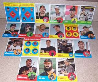 2012 Topps Heritage team set San Francisco Giants (20)