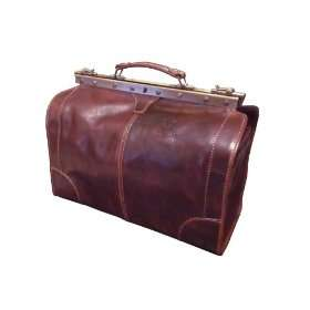 Rome Brown Italian Leather Duffel, Duffle, Travel Bag   Made in Italy