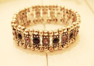 Celebrity Phil Audibert Swarovski Rhinestone Crystals Bangle Bracelet