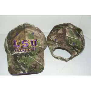 NCAA LSU Tigers Structured Camo Baseball Hat Sports