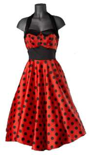 Hell Bunny Red Black Polka Dot Vera Swing Dress 50s Dance Rockabilly