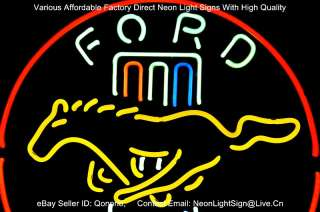 FORD MUSTANG USA AUTO DEALER BEER BAR NEON LIGHT SIGN