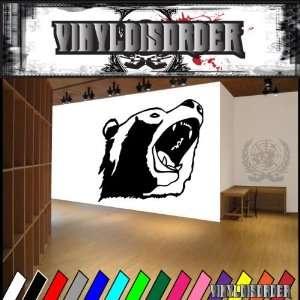Bear Growling Head Bears Animal Animals Vinyl Decal