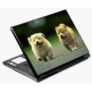 Univerval Laptop Skin Decal Cover   Running Puppies