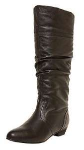 STEVE MADDEN Tall Leather Convertible Boots, Black & Cognac