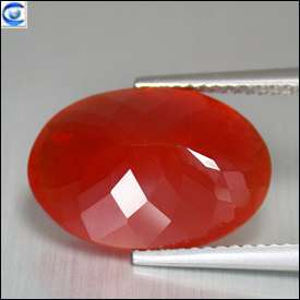 46ct  Cream Piece FL Best Big Red Mexican Fire Opal