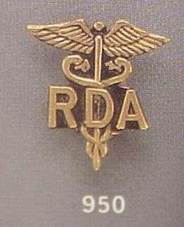 New RDA Registered Dental Assistant Emblem Pin 950