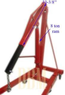Ton 4,000 LBS Cherry Picker Engine Hoist Lift Shop Crane