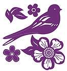 25 Wallies Birds Flowers Damask Toil Shadow Sticker Wall Decals