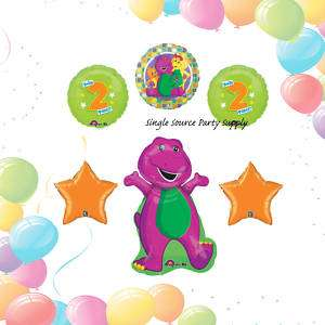 BARNEY & FRIENDS 2ND BIRTHDAY BALLOONS second two