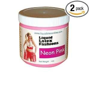 Liquid Latex Fashions Ammonia Free Body Paint, Neon Pink, 4 Ounce Jars