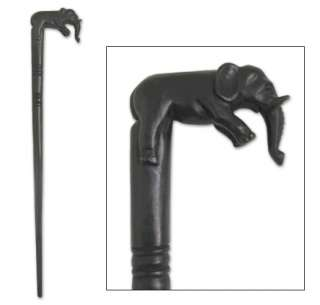 LUCKY ELEPHANT~Carved Wood Walking Stick ~African ARTS