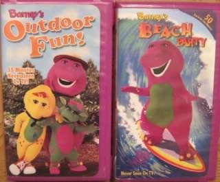 HUGE Lot 17 BARNEY & FRIENDS DINOSAUR VHS VIDEOS MOVIES
