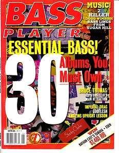 Bass Player Magazine June 1997 8/6 Bruce Thomas, Imperial Drag