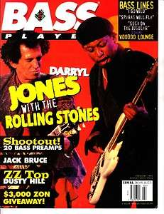 Bass Player Magazine Darryl Jones Jack Bruce January/February 1995 Vol