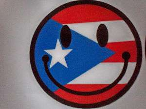 Puerto Rico Happy Face Flag Car & Truck Vinyl Decal Stickers Emblems