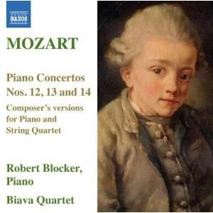 Versions for Piano W.A. Mozart, Blocker, Biava String Quartet Music