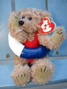 Ty Beanie Baby Teddy Bear ALLURA Jointed Bathing Suit