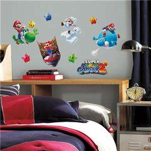 NINTENDO SUPER MARIO GALAXY 2  WALL DECALS Kids Room Decorations