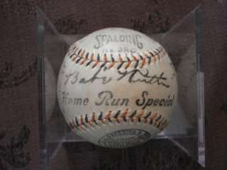 BABE RUTH GEHRIG LAZZERI PENNOCK 1933 YANKEES TEAM SIGNED BALL 23