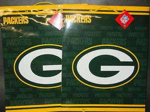 NFL Green Bay Packers Gift Bags (2 bags) LARGE