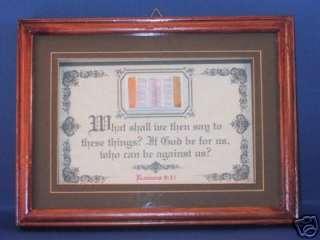 Bible Verse/Scripture Plaque   3D Gold Trimmed Bible   Shadow Box