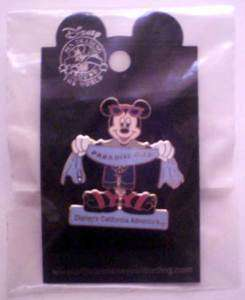 Mickey Mouse Beach Towel Paradise Pier DLR Disney Pin