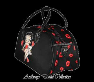 Betty Boop & Pudgy Travel Duffle Bag Handbag   Black